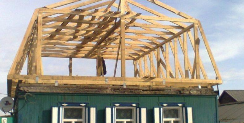 Строительство мансарды на дачном домике